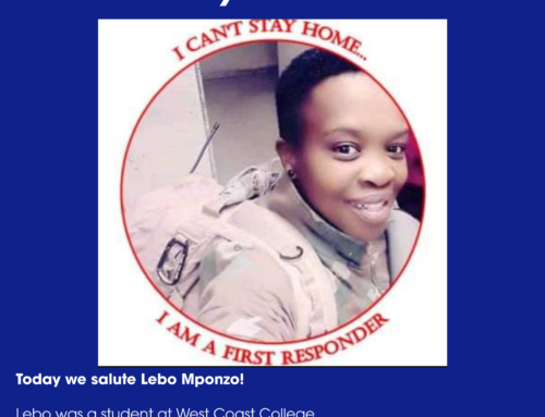 Attacking the COVID-19 Frontline – Meet Lebo Mponzo: One of our former students fighting COVID-19